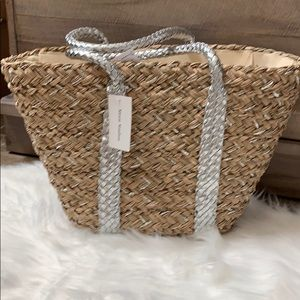 Straw studios structured tote